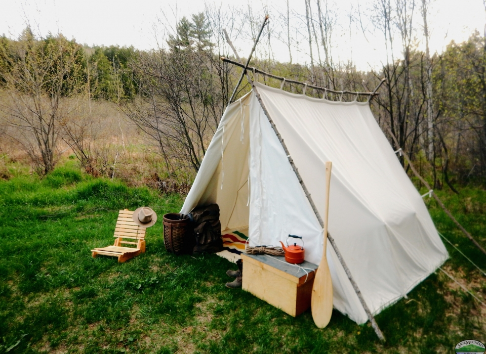 ... Wedge Tent With Fire ... & Jack Mountain Outfitters u2014 The Worldu0027s Smallest Outfitter