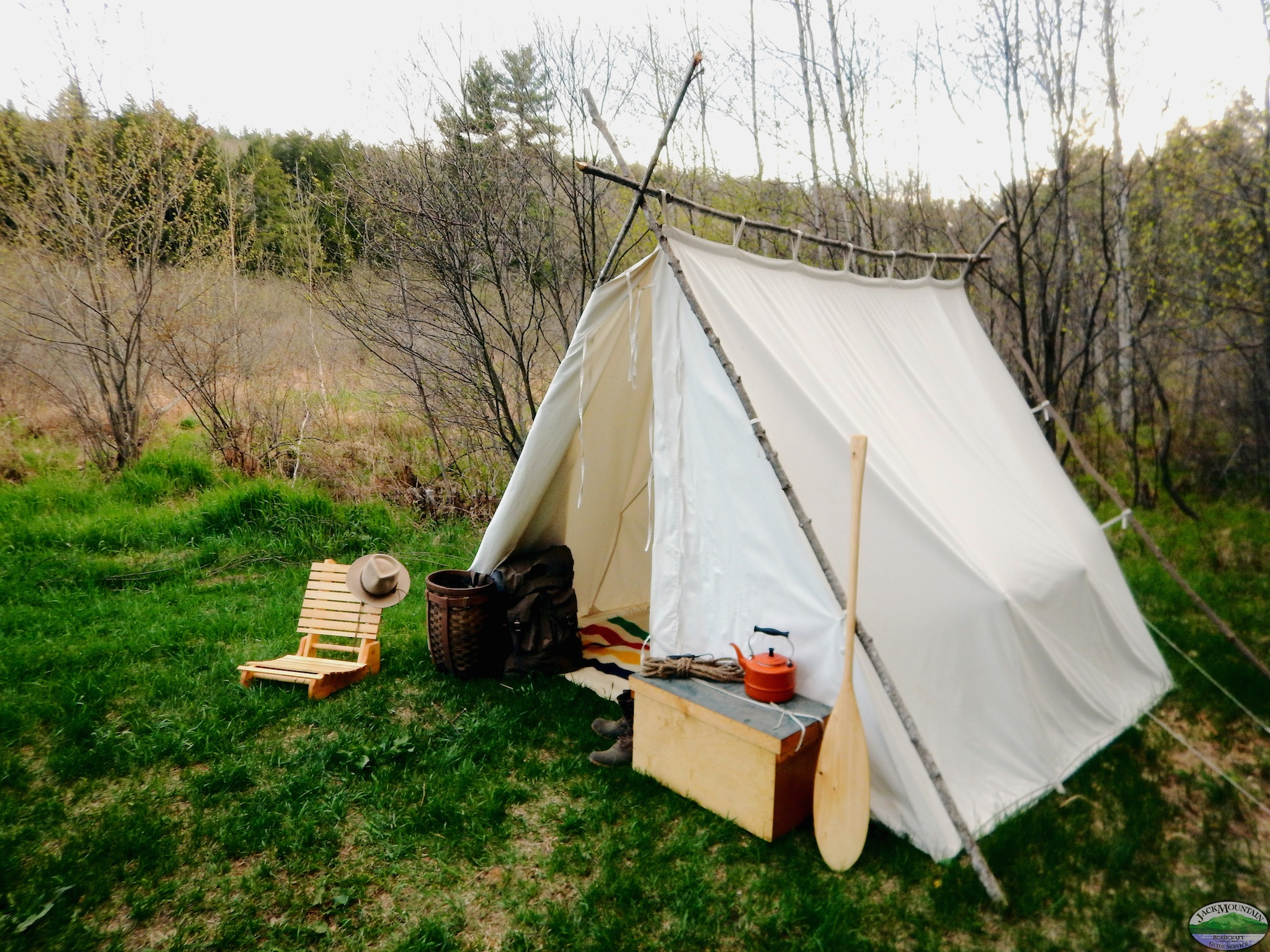 Wedge Tent With Fire