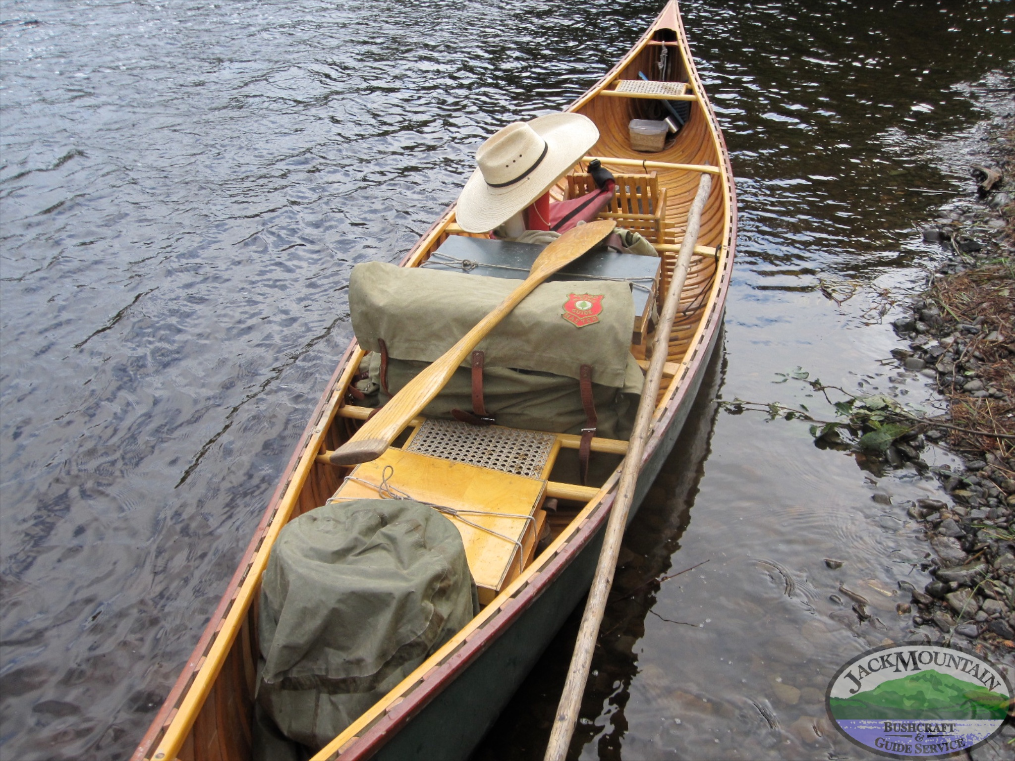 Loaded Wood Canoe